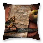 American Cookery 1790 Throw Pillow