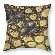 American Crocodile Scales Throw Pillow