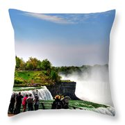 American Falls Throw Pillow
