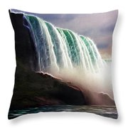 American Falls Power Throw Pillow