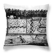 American Farm: Plan, 1793 Throw Pillow