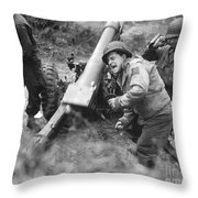 American Howitzers Shell German Forces Throw Pillow