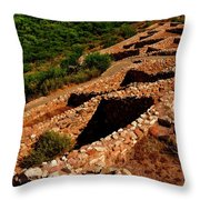 American Indian Patterns Of Living - Greeting Card Throw Pillow