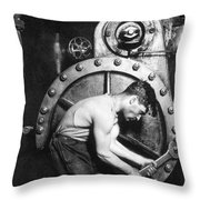 American Industry, 1920 Throw Pillow