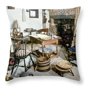 American Kitchen, 1695 Throw Pillow