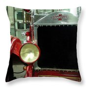 American Lafrance Fire Truck Throw Pillow