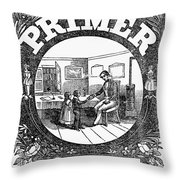 American Pictorial Primer Throw Pillow