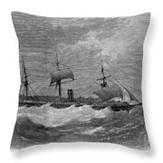 American Steamship, 1870 Throw Pillow