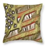 American Streets Of Gold Throw Pillow