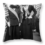 American Suffragists Throw Pillow