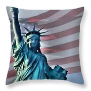 American Welcome Throw Pillow