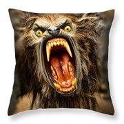 American Werewolf Throw Pillow