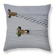 American Wigeons Throw Pillow