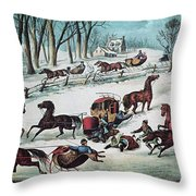 American Winter 1870 Throw Pillow