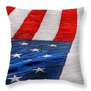 Americana - Flag - Stars And Stripes  Throw Pillow