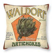 Americana Veggies Throw Pillow by Debbie DeWitt