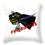 America's Answer -- Production  Throw Pillow
