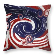 Americas Palette Throw Pillow