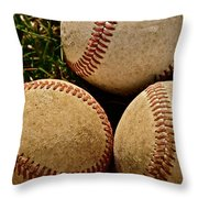America's Pastime Throw Pillow by Bill Owen