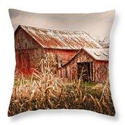 America's Small Farm Throw Pillow