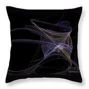 Amethyst Angel Rising Throw Pillow