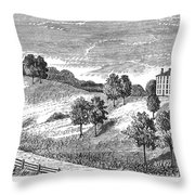 Amherst College, 1821 Throw Pillow