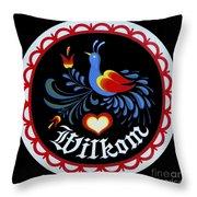 Amish Hex Design Throw Pillow