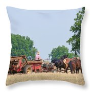 Amish Manure Spreader Throw Pillow