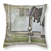 Amish Pump And Cup Throw Pillow