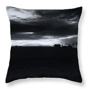 Amish Sunrise Black And White Throw Pillow
