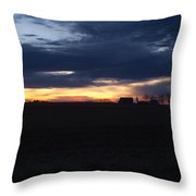 Amish Sunrise Throw Pillow