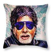 Amitabh Bachchan - God Of Bollywood Throw Pillow