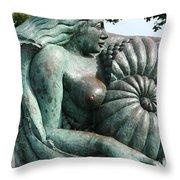 Ammonite Statue Throw Pillow