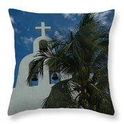 Among The Palms Throw Pillow