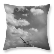 Amongst The Clouds Bw Throw Pillow