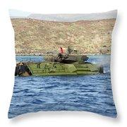 Amphibious Assault Vehicle Crewmen Throw Pillow