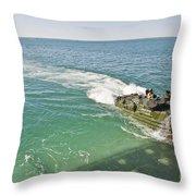 Amphibious Assault Vehicles Enter Throw Pillow