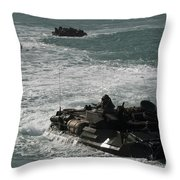 Amphibious Assault Vehicles Transit Throw Pillow