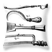 Amputation Instruments, 1772 Throw Pillow