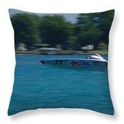 Amsoil Offshore Racer Throw Pillow