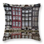 Amsterdam Reflections Hdr Throw Pillow