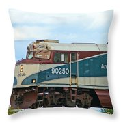 Amtrack Engine Throw Pillow