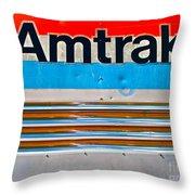 Amtrak Train Throw Pillow