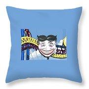 Amused Joker Throw Pillow
