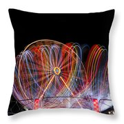 Amusement Park Throw Pillow