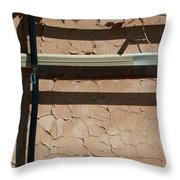 An Abstracted Wall Throw Pillow