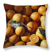 An Abundance Of Oranges Throw Pillow