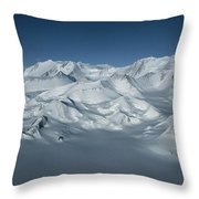 An Aerial View Of Mount Vinson Throw Pillow