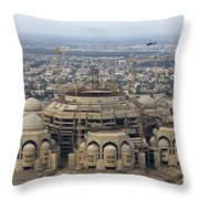 An Aerial View Of Saddam Hussiens Great Throw Pillow by Terry Moore