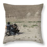 An Afghan Police Studen Fires Throw Pillow
